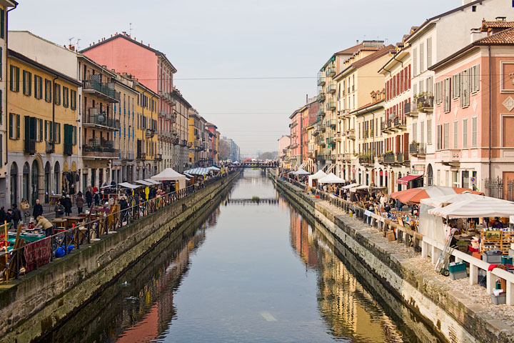 Canal of Milan, Italy